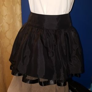 Black fit and flare skirt